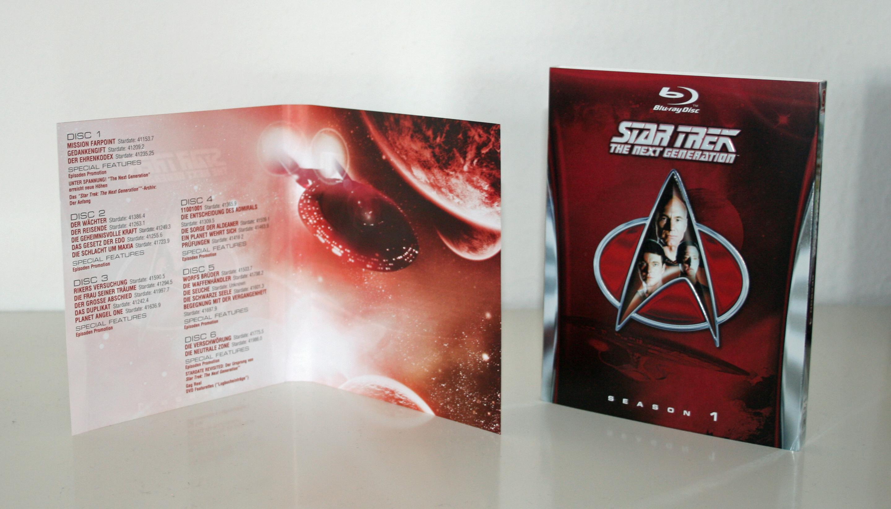 Star Trek: The Next Generation - Inlay Blu-ray Season 1